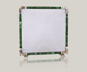 Firescreen with gemstones