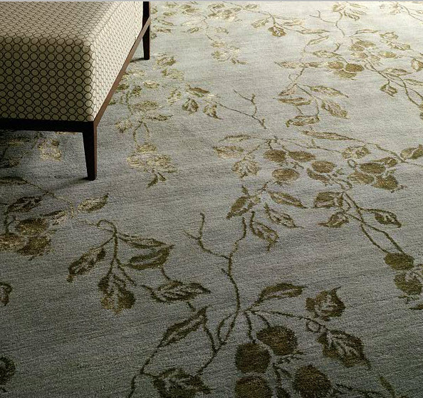 Wool Silk Rugs Contemporary: Silk And Wool Rugs- Bliss Underfoot