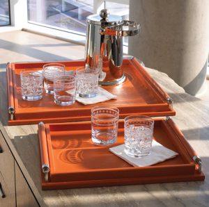 orange bar trays