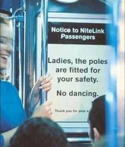pole dancer sign