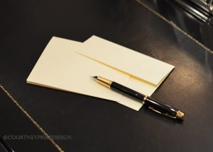hand written notes, fountain pen, note cards, thank you note