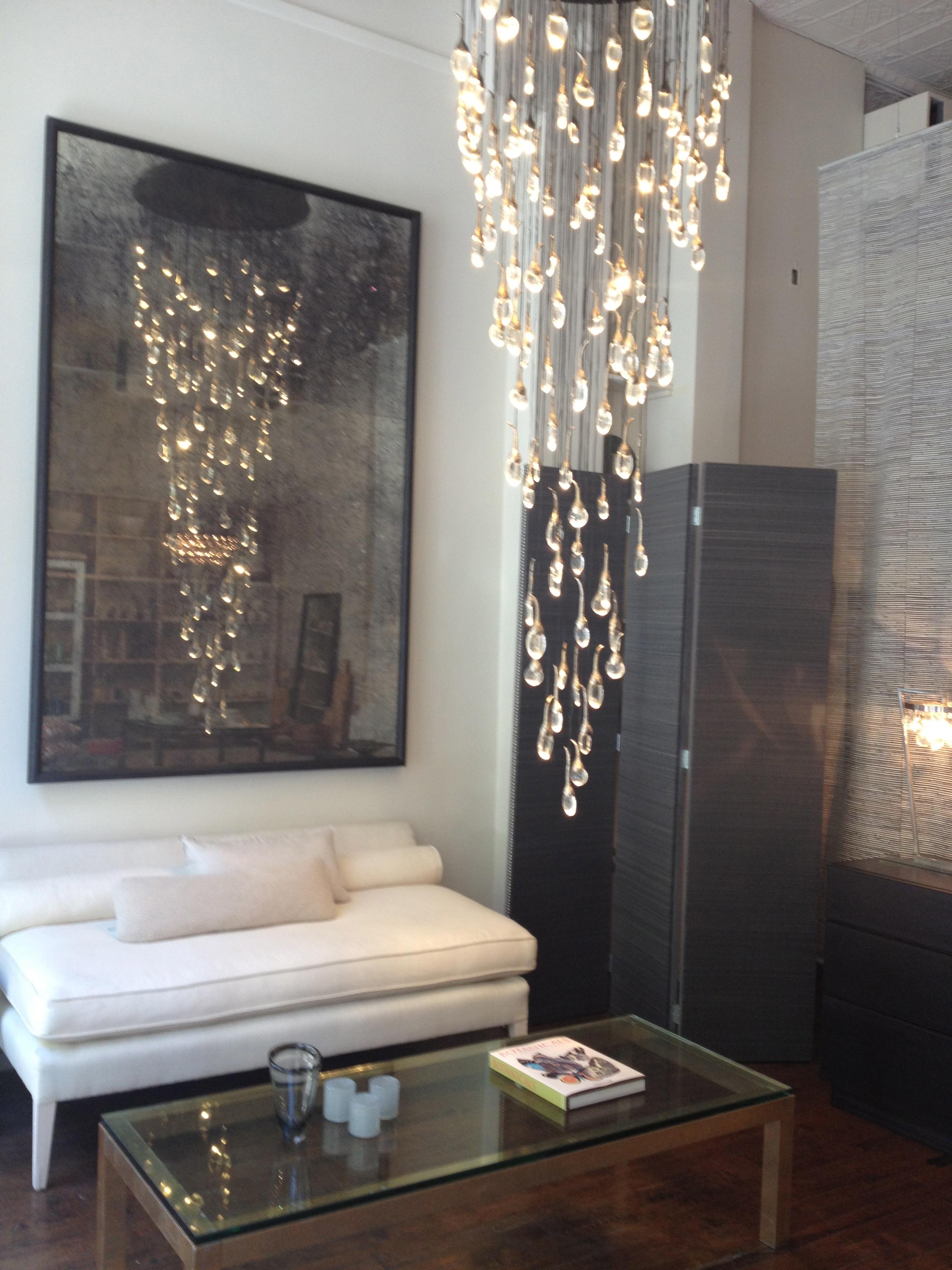 LED droplet chandelier