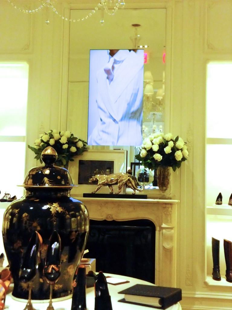 TV's in mirrors, Ralph Lauren Store NYC