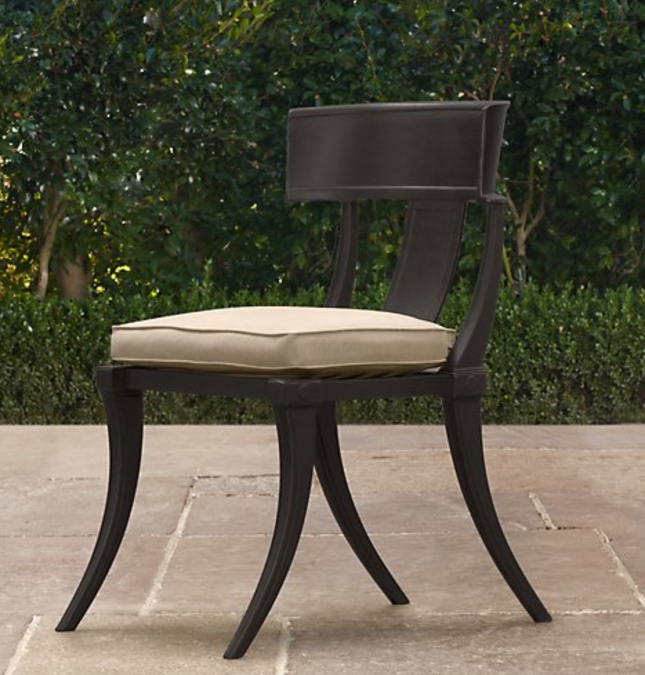 Restoration Hardware Outdoor Klismos