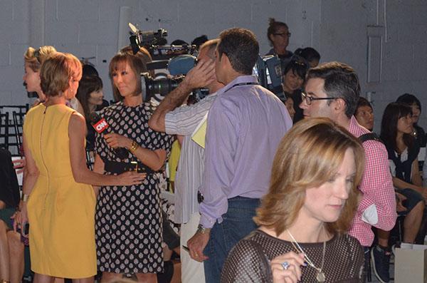 CNN interview Fashion week