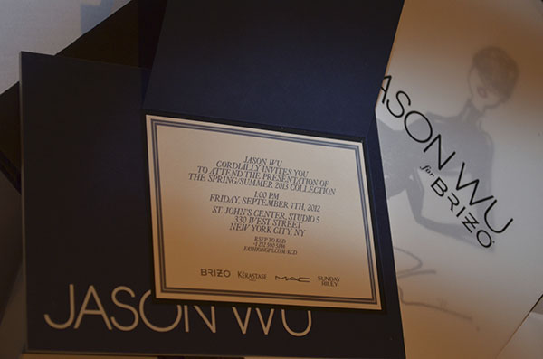 Fashion week invitation
