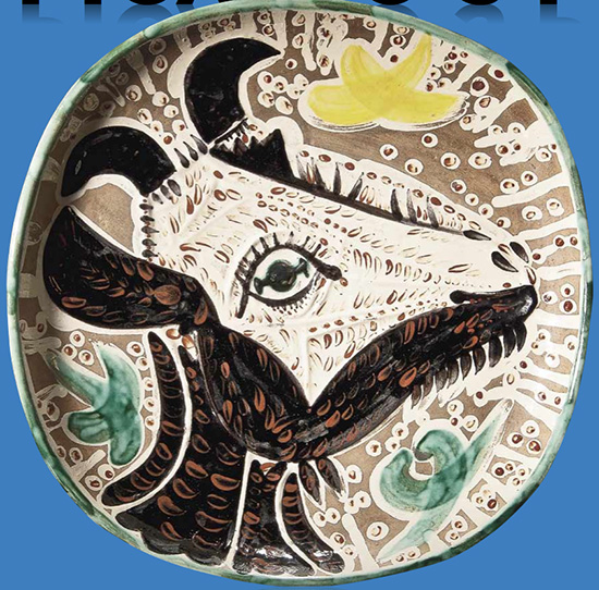 Picasso Plate cow head