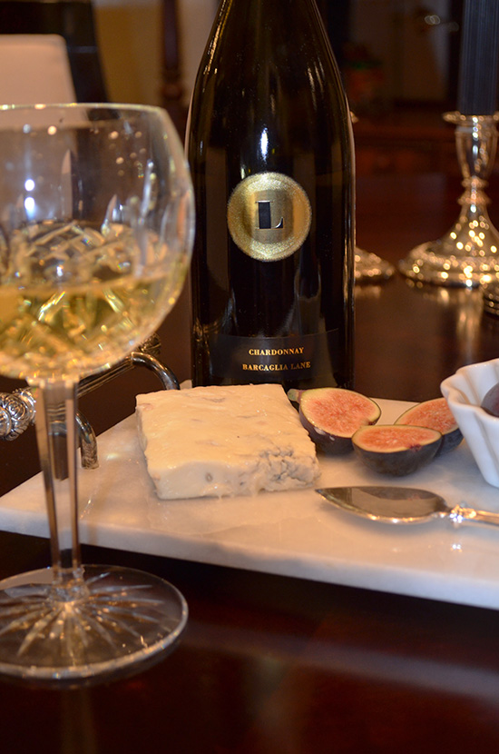 Wine and cheese and figs