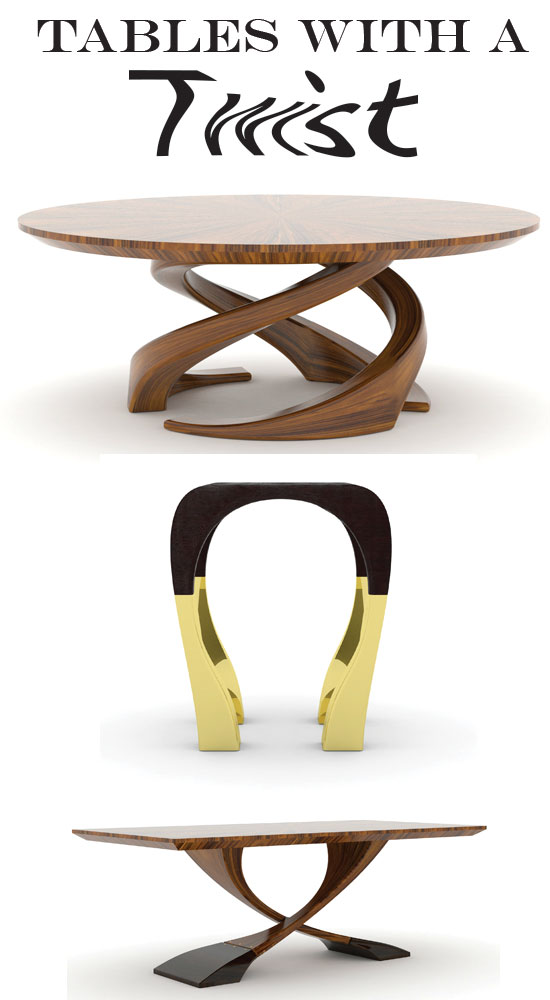contemporary tables, table bases, modern tables