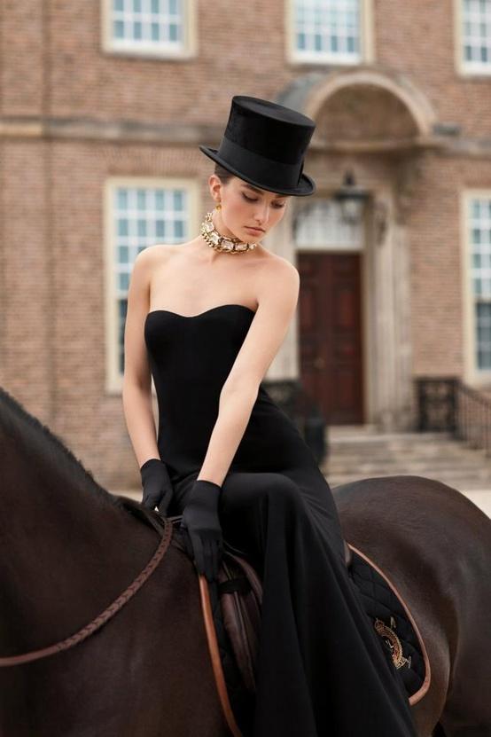 black tie equestrian
