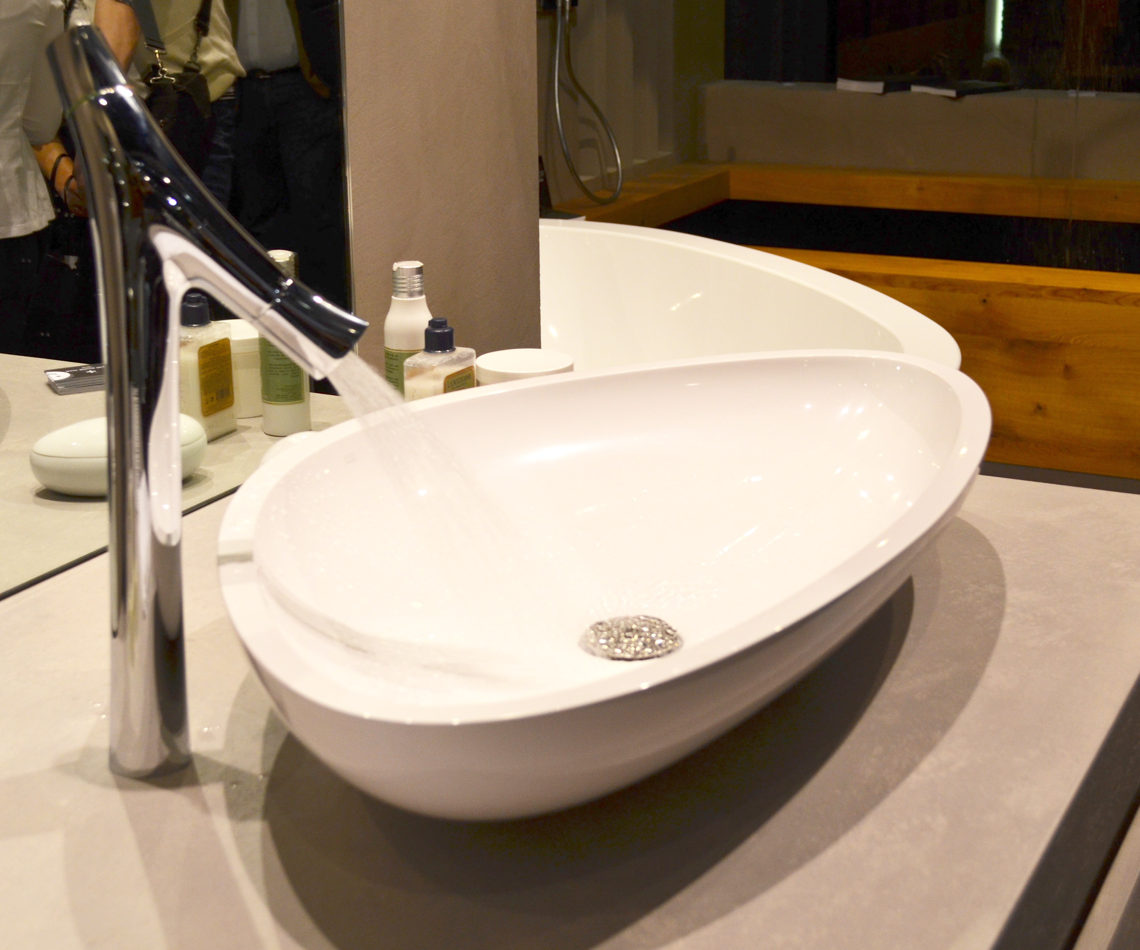 Contemporary bathroom faucet and sink