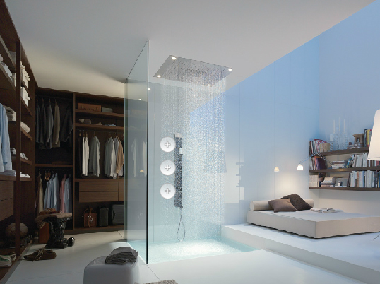 Axor Starck Organic, huge overhead shower