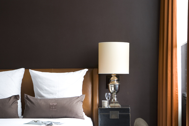 Masculine bedroom, the College Hotel