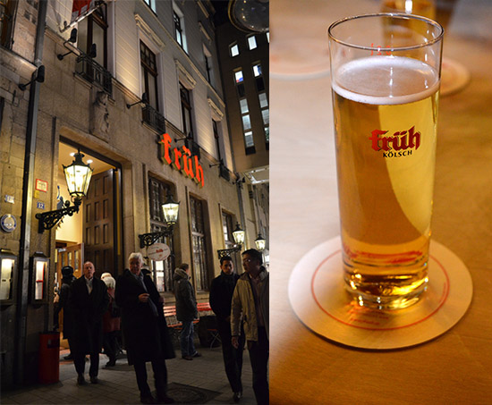 Fruh, beer garden, Cologne Germany