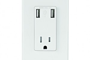 A Leviton plug with USB ports