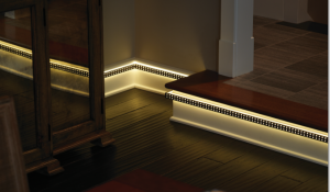 LED in baseboard trim