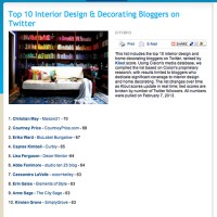 Top 10 Interior Design & Decorating Bloggers on Twitter