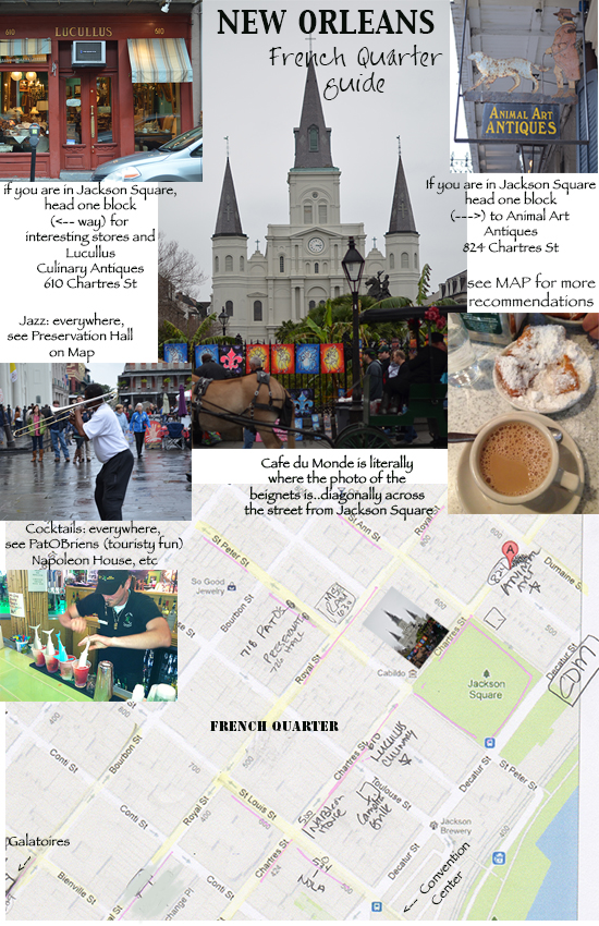 New Orleans French Quarter Guide - where to eat/drink/shop on www.CourtneyPrice.com