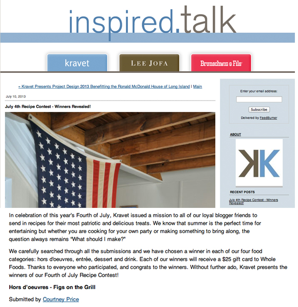 Recipe Contest , Kravet, 4th of July