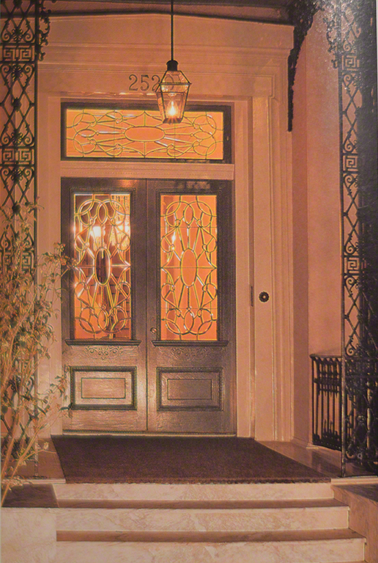 Leaded Glass Front Door New Orleans Architecture Homes On CourtneyPrice