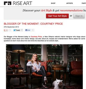 Blogger of the Moment, Interview, Courtney Price, Interior Design, 75205, Dallas