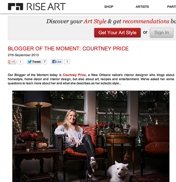 Blogger of the Moment, Interview, Courtney Price, Interior Design, 75205, Dallas
