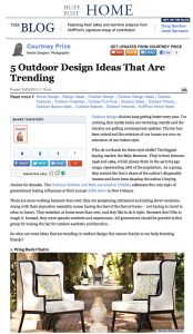 Huff Post Home Outdoor Trends