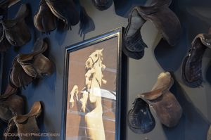 Horse and English Saddles
