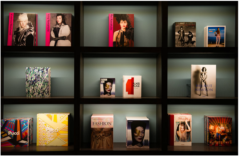 Book Display: Taschen Library at the Joule Hotel