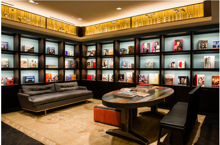 Lounge- Taschen Library at the Joule Hotel