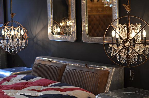 British Decor, man cave bedroom, bachelor decor