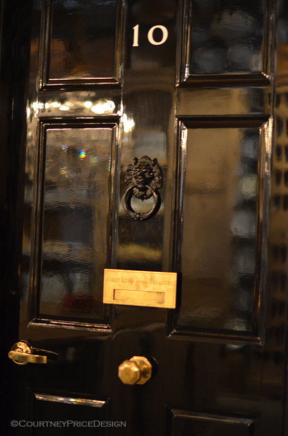 Black Lacquered Door, #10 Downing street, british door