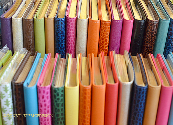desk accessories, crocodile journals, crocodile, leather journal, address books, colorful journals