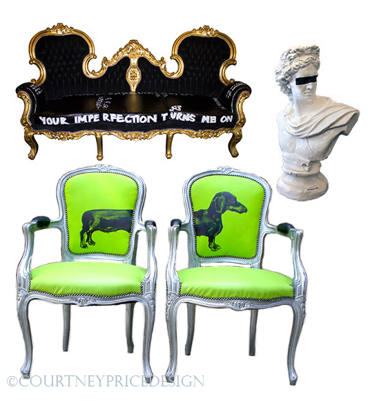 Pop furniture, Jimmie Martin, contemporary style, on www.CourtneyPrice.com