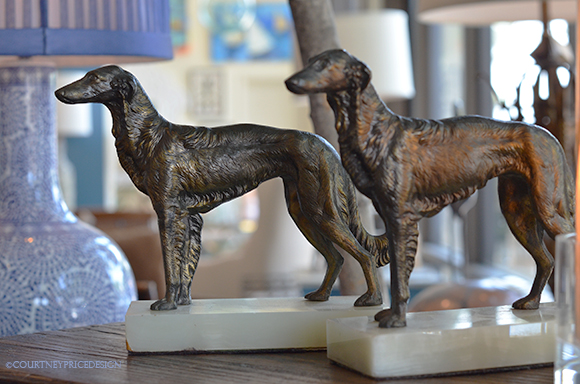 Cool dog accessories, bronze dog, bookends, table top accessories, dogs