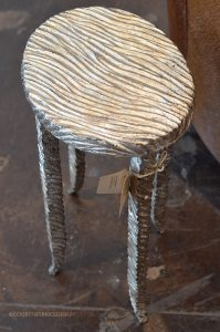 Side table, Mecox, silver table