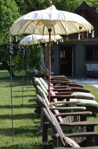lounge seating, pool seating, tiki torches