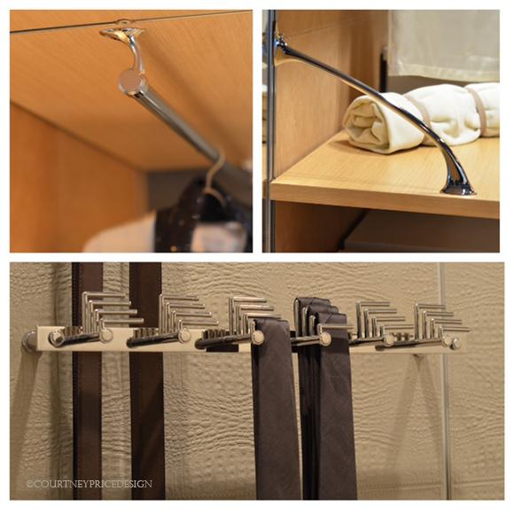 Closet hardware, luxury closets, custom closet