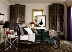 Ralph Lauren, Apt No 1, bedroom, interior design, british style