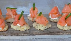 Smoked Salmon App, party food, lemon rosemary, entertaining, bite sized, apps