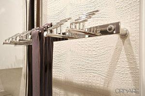 Tie Rack, Belt rack, his closet, luxury closet, closet trends,