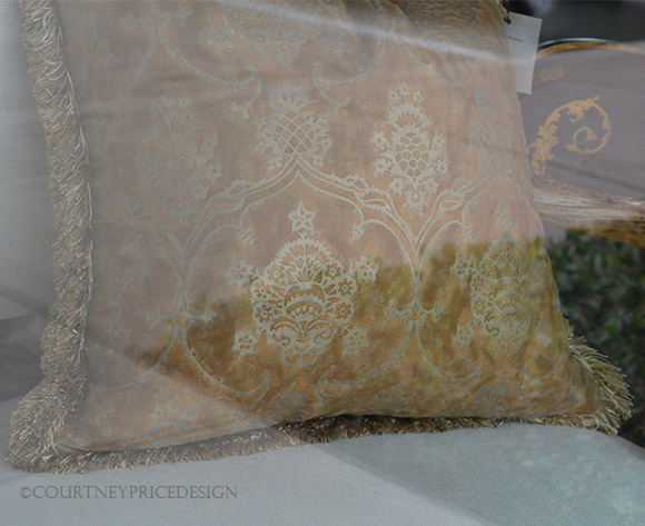 fortuny pillow, pillow with decorative trim