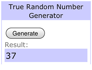 prize winning number, random number generator