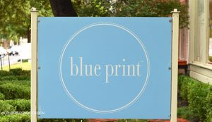 Blue print sign