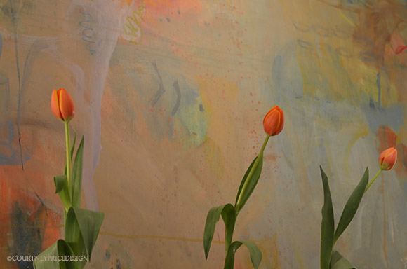 tulip detail, contemporary art