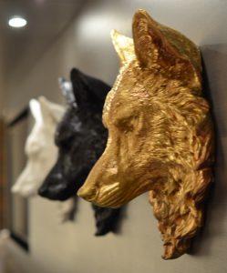 wolf, sub zero wolf, wall mounted wolf head, decorative wolf