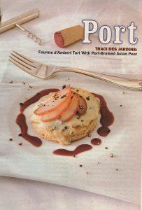 Port Foumet dAmbert Tart, Entertaining, starter,