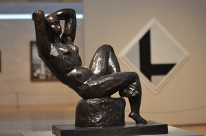 Reclining Nude Bronze, Kimbell Museum, Fort Worth, Texas art collections