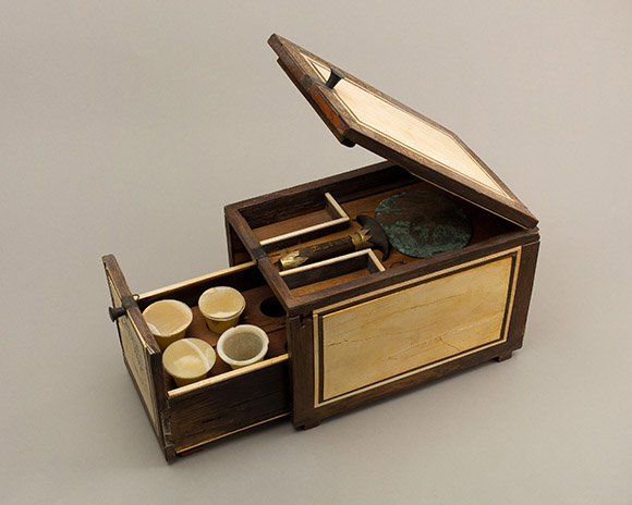 Cosmetic box of the Cupbearer Kemeni, History of The Dressing Table exhibit, Metropolitan Museum of art