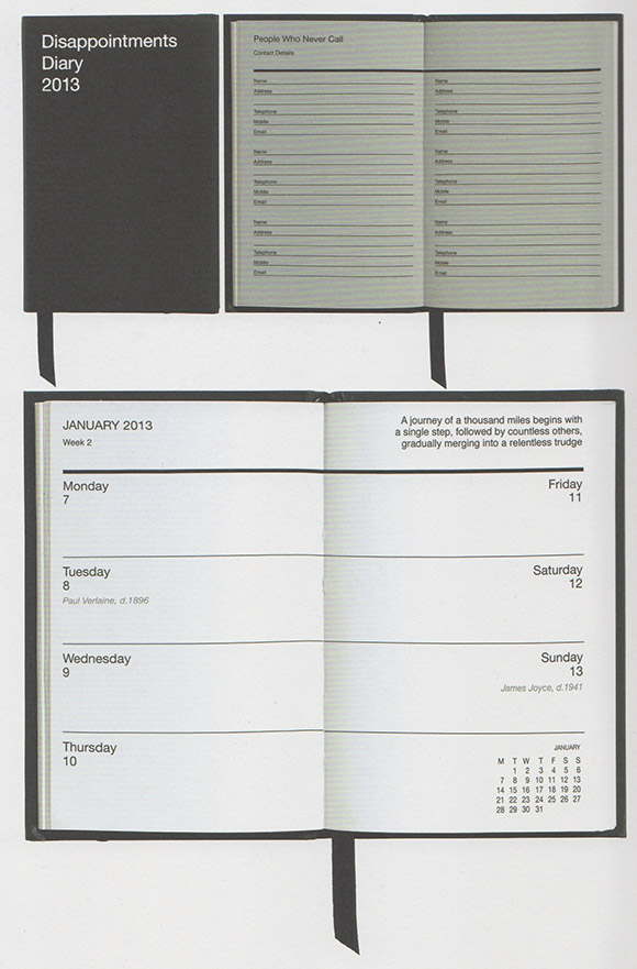 D&AD award winner,Disappointments Diary on www.CourtneyPrice.com